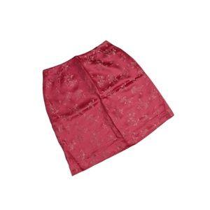 Lilly Pulitzer Floral Print Silk Blend Skirt